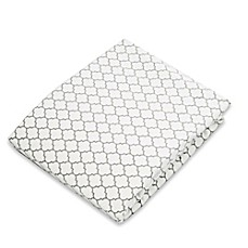 image of kushies® Flannel Portable Play Pen Fitted Sheet in Ornament Light Grey