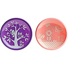 image of Brinware Garden Party Dishes in Pink (Set of 2)