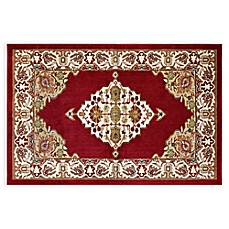 image of Westwood Floral Rug in Red