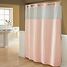 image of Hookless® Waffle Fabric Shower Curtain