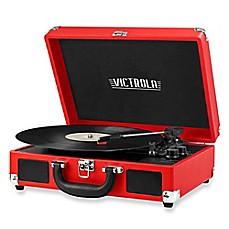 image of Victrola Retro Record Player Stereo with Bluetooth® in Red