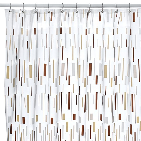 Bars Beige Shower Curtain - Bed Bath & Beyond