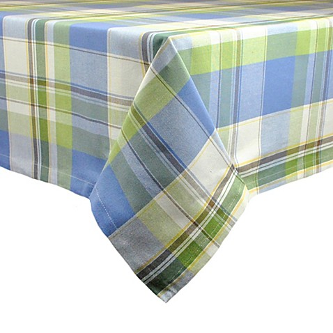 Lake House Plaid 52 Inch X 52 Inch Tablecloth Bed Bath