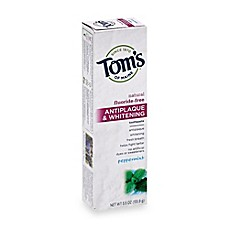 image of Tom's of Maine 5.5 oz. Antiplaque & Whitening Toothpaste in Peppermint