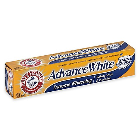 arm and hammer 6 oz advance white baking soda and peroxide toothpaste in fresh mint bed bath. Black Bedroom Furniture Sets. Home Design Ideas