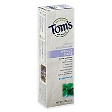image of Tom's of Maine 4.7 oz. Whole Care Toothpaste in Peppermint