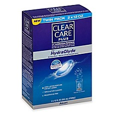 image of Clear Care Plus Twin Pack 12 oz. with Hydraglyde Cleaning and Disinfecting Solution