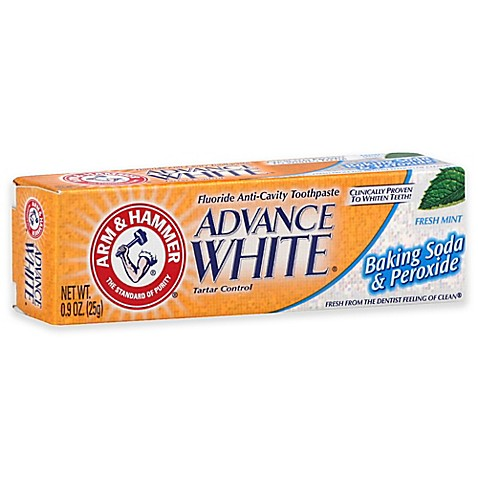 arm and hammer 9 oz advance white baking soda and peroxide toothpaste in fresh mint bed. Black Bedroom Furniture Sets. Home Design Ideas