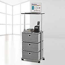 image of Studio 3B™ 3-Drawer Adjustable-Top Storage Cart in Grey