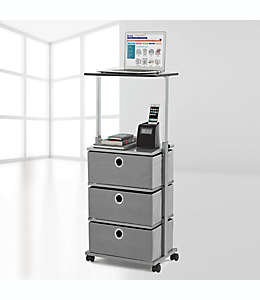 Carrito organizador ajustable Studio 3B™, con 3 cajones en gris