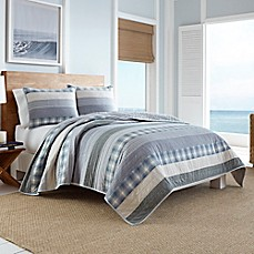 image of Nautica® Durham Quilt in Blue
