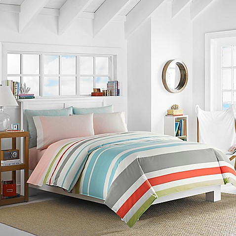 Nautica Taplin Reversible Comforter Set In Aqua Bed Bath Beyond