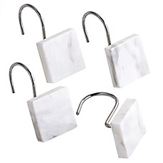 image of Camarillo Marble Shower Curtain Hooks (Set of 12)