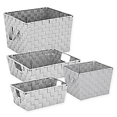 Woven Storage Tote in Light Grey  sc 1 st  Bed Bath u0026 Beyond & Storage Baskets Bins u0026 Basket Containers | Bed Bath u0026 Beyond