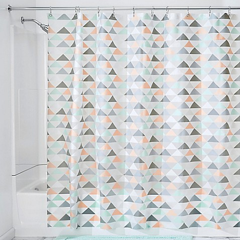 Interdesign Triangles Shower Curtain Bed Bath Beyond