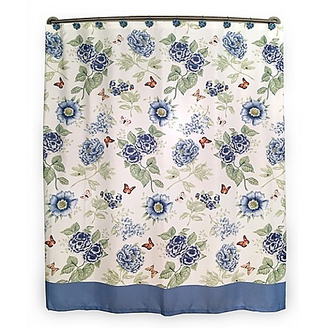 Lenox Blue Floral Garden Shower Curtain Bed Bath Beyond