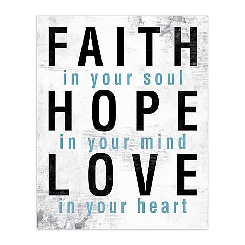 Faith Hope Love Blue Canvas Wall Art  sc 1 st  Bed Bath u0026 Beyond & Faith Hope Love Blue Canvas Wall Art - Bed Bath u0026 Beyond