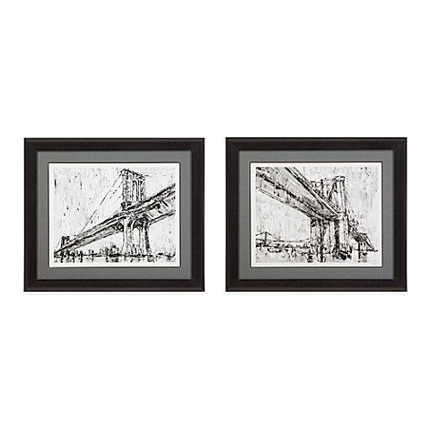 Bassett Mirror Company Iconic Suspension Bridge Framed Print Wall ...