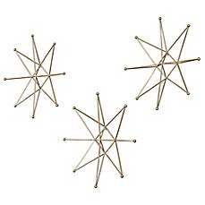 image of Uttermost Gold Stars Wall Art (Set of 3)