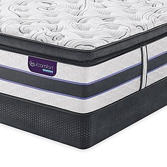 Image Of Serta Icomfort Hybrid Hb500q Smartsupport Super Pillow Top Mattress Set