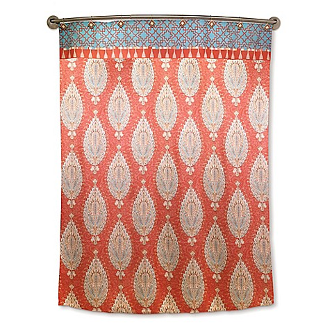 Dena™ Home Kaiya Shower Curtain in Rust - Bed Bath & Beyond