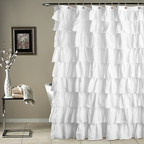 Ruffle Shower Curtain In White Bed Bath Beyond