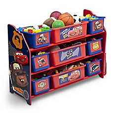 image of Delta Cars 9-Bin Multicolored Organizer