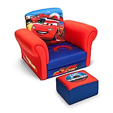 image of Delta Disney®/Pixar® Cars Children's Chair and Ottoman Set in Blue/Red