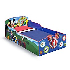 image of Delta™ Disney® Mickey Mouse Wooden Interactive Toddler Bed