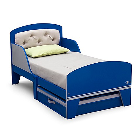 DeltaTM Jack Amp Jill Toddler Bed With Upholstered Headboard