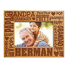 image of Words for Grandpa 4-Inch x 6-Inch Picture Frame