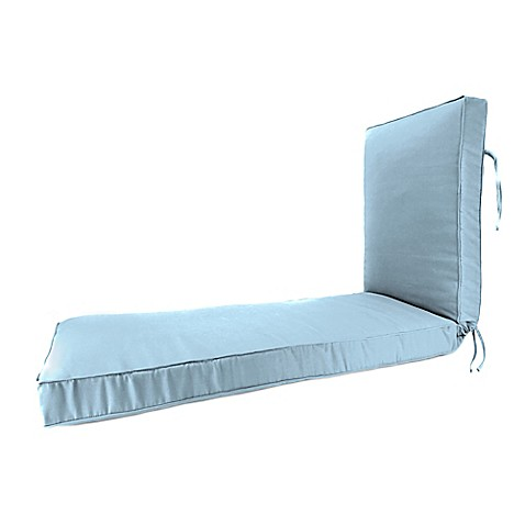 80 inch x 23 inch chaise lounge cushion in sunbrella for Blue chaise lounge cushions