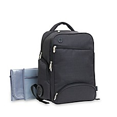 image of Baby Boom XLR8 Connect and Go Backpack Diaper Bag in Black