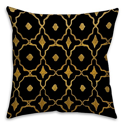 Speckles Throw Pillow in Black/Gold - Bed Bath & Beyond