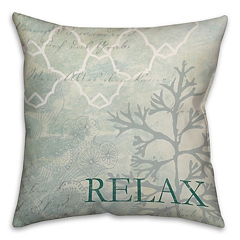 Throw Pillows That Say Relax : Buy