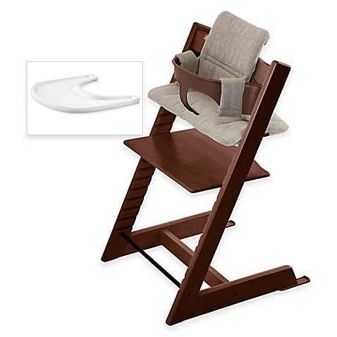 stokke tripp trapp high chair complete bundle in walnut. Black Bedroom Furniture Sets. Home Design Ideas