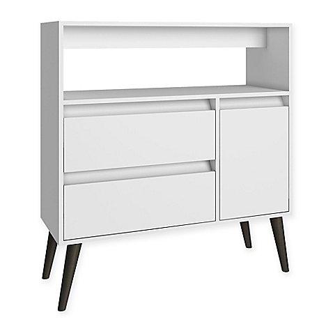 Manhattan Comfort Functional Gota High Side Table In White