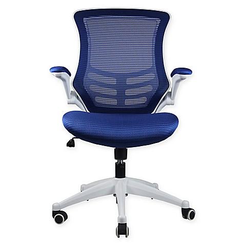 Manhattan Comfort Lenox Mesh Adjustable Office Chair Bed Bath Beyond