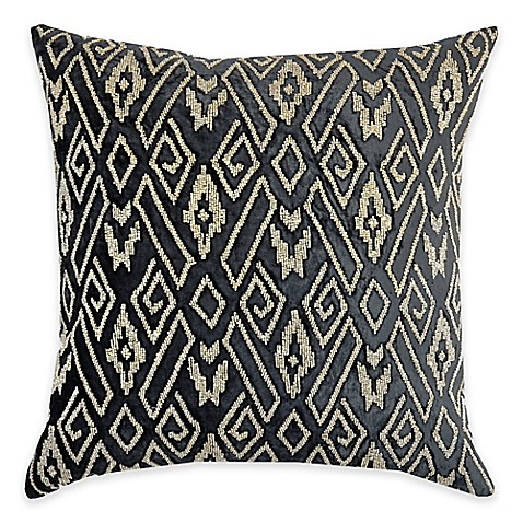 Buy Callisto Home Geometric Gold Beaded Avanti Square Throw Pillow in Grey from Bed Bath & Beyond