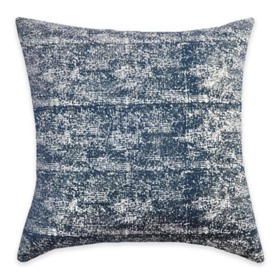 Callisto Home Silver Foil Print Ibiza Square Throw Pillow in Navy - Bed Bath & Beyond