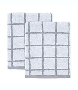 Set de toallas de medio baño de algodón Simply Essential™ color gris aleación