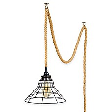 image of Mix & Match Pendant Lighting with Fitter and Rope Swag