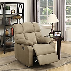 image of Lifestyle Solutions Olivia Microfiber Recliner in Taupe