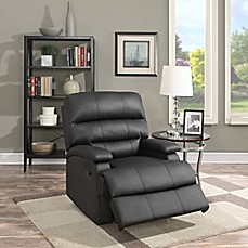 image of Lifestyle Solutions Romeo Faux Leather Recliner in Black