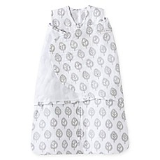 image of HALO® SleepSack® Tree Muslin Multi-Way Swaddle in Grey/White