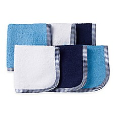 image of Gerber® 6-Pack Woven Washcloths in Blue