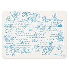 image of Modern Twist Treasure Map Doodle Placemat in White/Blue