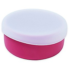 image of Modern Twist  4.85 oz. Silicone Bowl with Lid in Pink