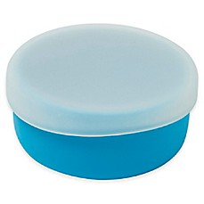 image of Modern Twist 4.85 oz. Silicone Bowl with Lid in Blue