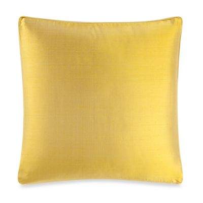 Buy Aura Silk Dupioni Box Square Throw Pillow in Lemon from Bed Bath & Beyond